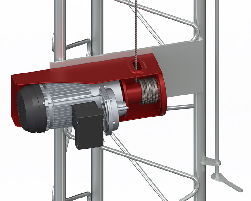 Electric erection system