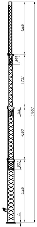 Aluminum crank-up towers СТ-А3-4Х-5000