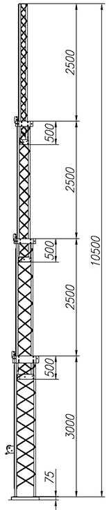 Steel crank-up self-supporting towers CT-S3-4-3000