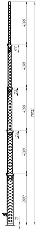 Steel crank-up self-supporting towers CT-S3-5Х-5000