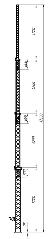Aluminum crank-up towers СТ-А3-4-5000