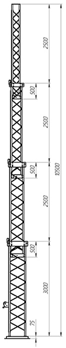 Aluminum crank-up towers CT-A3-4Х-3000