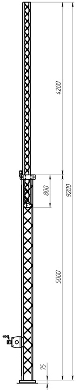 Steel crank-up self-supporting towers CT-S3-2-5000