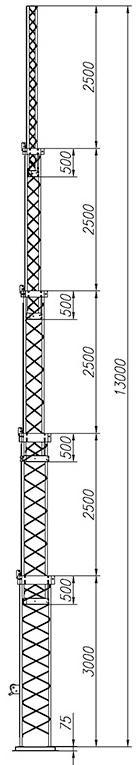 Steel crank-up self-supporting towers CT-S3-5-3000