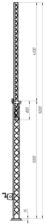 Aluminum crank-up towers СТ-А3-2-5000