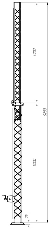 Aluminum crank-up towers СТ-А3-2Х-5000