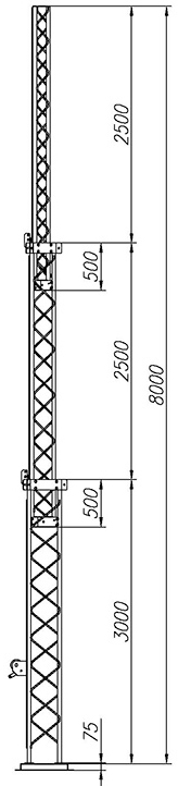 Steel crank-up self-supporting towers CT-S3-3-3000